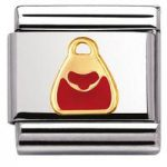 Nomination Charm Composable Classic Daily Life Red Bag Steel