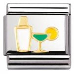 Nomination Charm Composable Classic Drinks Cocktail Shaker and Glass Steel