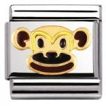 Nomination Charm Composable Classic Earth Animals 1 Monkey Steel