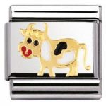 Nomination Charm Composable Classic Earth Animals Cow Steel