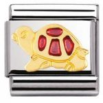 Nomination Charm Composable Classic Earth Animals Fuchsia Tortoise Steel