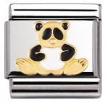 Nomination Charm Composable Classic Earth Animals Panda Steel