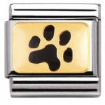 Nomination Charm Composable Classic Earth Animals Paw Print Steel