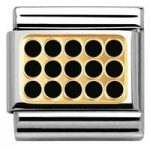 Nomination Charm Composable Classic Elegance Engraved Grill Black Steel