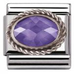 Nomination Charm Composable Classic Faceted Purple Cubic Zirconia Steel