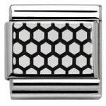 Nomination Charm Composable Classic Lace Plot 2 Steel