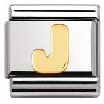 Nomination Charm Composable Classic Letter J Steel