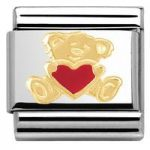 Nomination Charm Composable Classic Love 1 Bear And Heart Steel