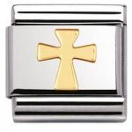 Nomination Charm Composable Classic Religious Cross Steel