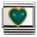 Nomination Charm Composable Classic Stones Hearts Turquoise Steel