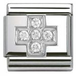 Nomination Charm Composable Classic Symbols Cross Steel