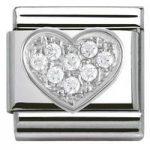 Nomination Charm Composable Classic Symbols Heart Steel