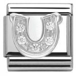 Nomination Charm Composable Classic Symbols Horseshoe Steel