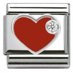 Nomination Charm Composable Classic Symbols Red Heart Steel
