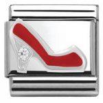 Nomination Charm Composable Classic Symbols Red Stileto Steel