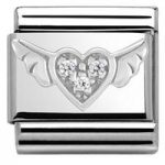 Nomination Charm Composable Classic Symbols Winged Heart Steel