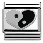 Nomination Charm Composable Classic Symbols Ying Yang Heart Steel