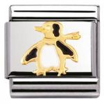 Nomination Charm Composable Classic Water Animals Penguin Steel