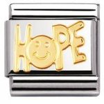 Nomination Charm Composable Classic Writing Hope Steel