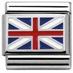 Nomination Charm Composable Flags Union Jack Steel