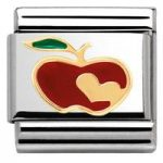 Nomination Charm Composable Madame & Monsieur Link Apple with Heart Steel