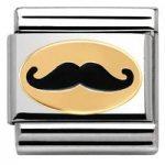 Nomination Charm Composable Madame & Monsieur Link Monsieur Moustache Steel