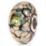 Trollbeads Bead Black Flower Mosaic Silver